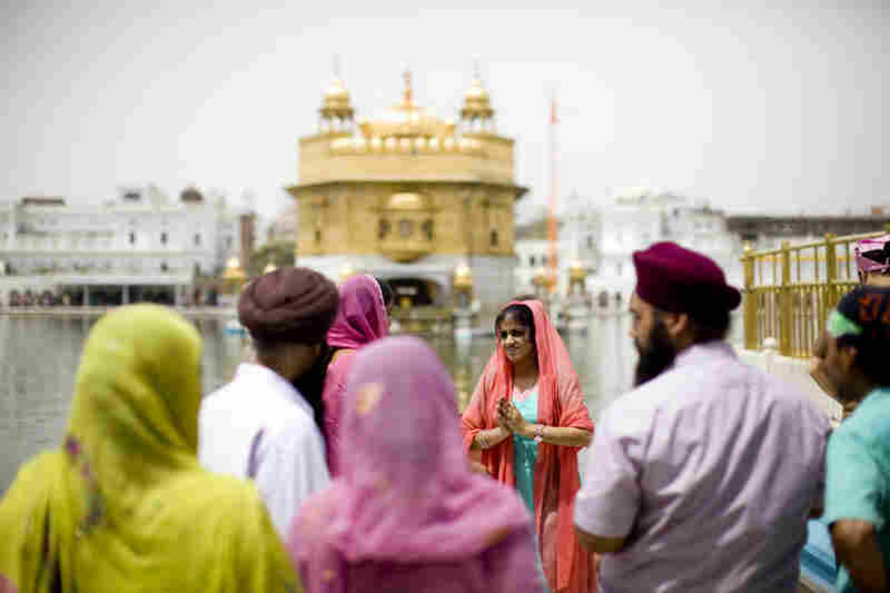 The Golden Temple, commonly referred to as the Harmandir Sahib, is located in Amristar, India. A major pilgrimage destination for Sikhs, it's also open to visitors.