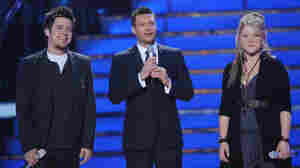 Lee DeWyze, Ryan Seacrest, Crystal Bowersox