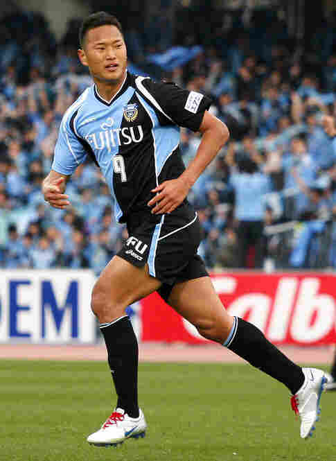A native of Japan, Jong Tae Se will play striker for North Korea. Jong, seen here playing for Kawasaki Frontale, vows to score a goal in each of his three games, against Brazil, Portugal and Ivory Coast.