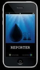 Oil Reporter mobile phone app
