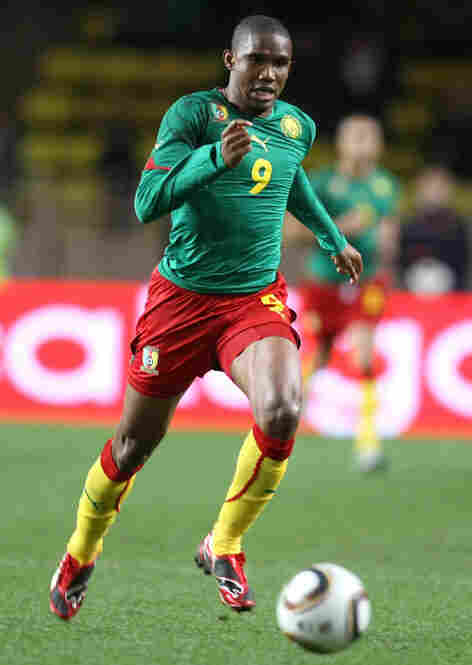 Forward Samuel Eto'o of Cameroon scored nine goals in 11 qualifiers for the national team on its way to the World Cup. Cameroon faces Denmark in a key matchup on June 19.