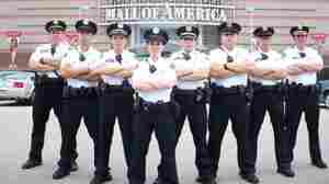 Mall security guards standing outside the Mall Of America in Bloomington, MInn.