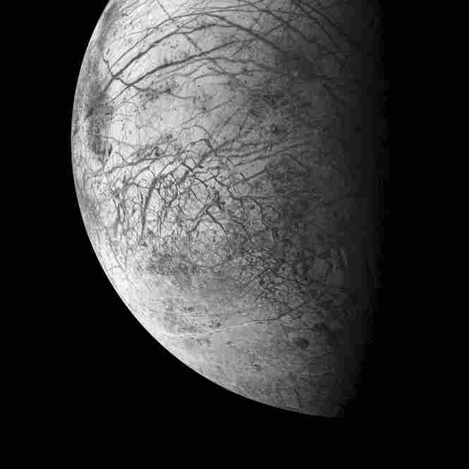 An Ice-Covered Ocean Faults and curving ridges cover the face of Jupiter's moon Europa, one of the most tantalizingly enigmatic worlds in the solar system. Europa almost certainly has a vast, ice-capped global ocean kept warm by the gravitational effects of Jupiter and its moons, and perhaps by volcanoes on the hidden seafloor. Europa may have enough heat, water and organic material for ...