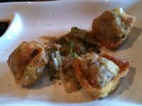 Duck dumplings.
