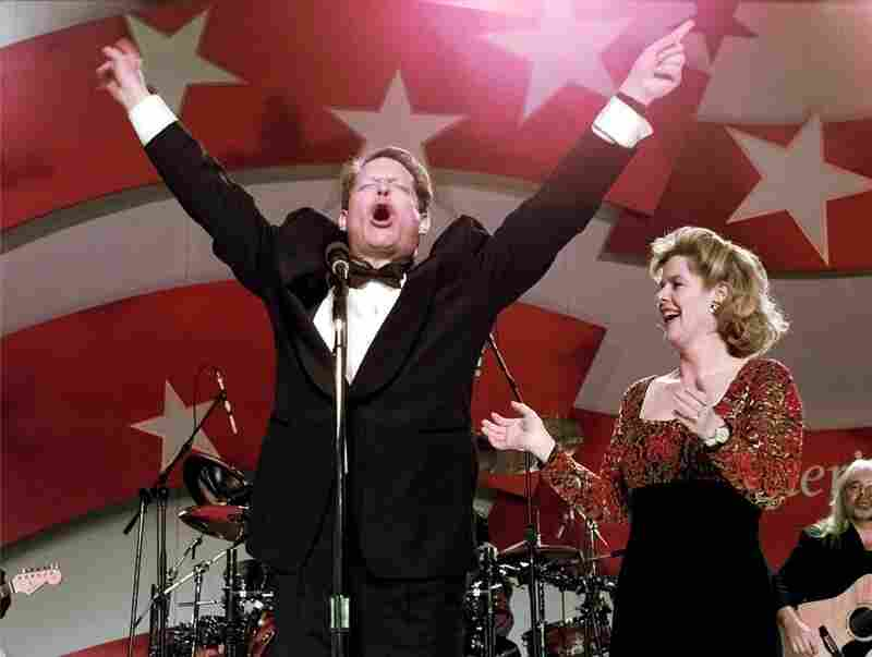 The couple celebrates at the Southern States Ball in Washington on Jan. 20, 1997, as Clinton and Gore started a second term.
