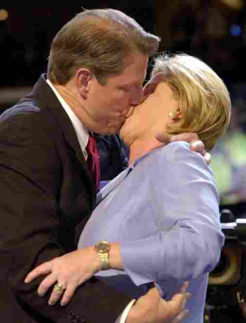 The Gores famously kissed onstage at the Democratic National Convention on Aug.17, 2000, in Los Angeles — where Al Gore received the party's nomination in his ultimately unsuccessful bid to become president.