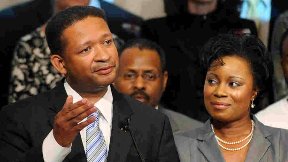 Rep. Artur Davis, with his wife Tara, concedes the Democratic gubernatorial race.