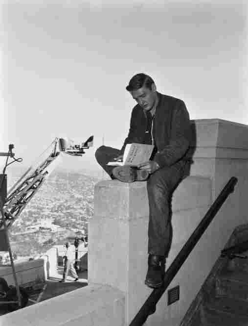Dennis Hopper on location for Rebel Without A Cause, 1955