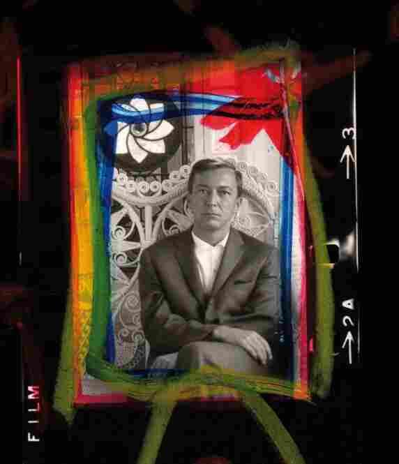 Jasper Johns (detail from contact sheet), 1964