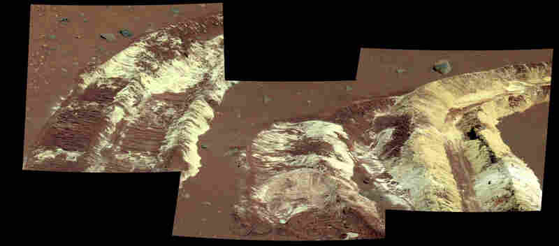 The Spirit rover's right front wheel motor died about two years into the mission. However, the bad luck of decreased mobility ended up turning into good fortune, because the stuck wheel created a 6-inch-wide trench that dug up bright, salty, hydrated soils that would not have been discovered otherwise. These water-bearing deposits reveal that this part of Mars was very likely more Earth-like at...