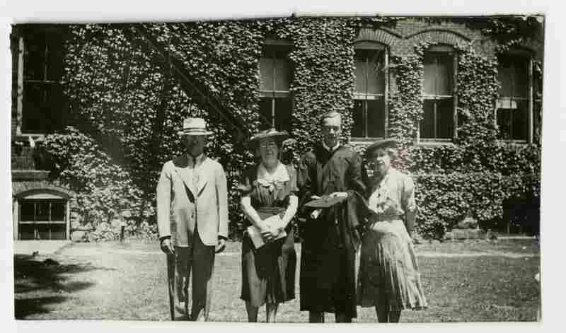 Graduation snapshot, circa 1930s, unknown photographer