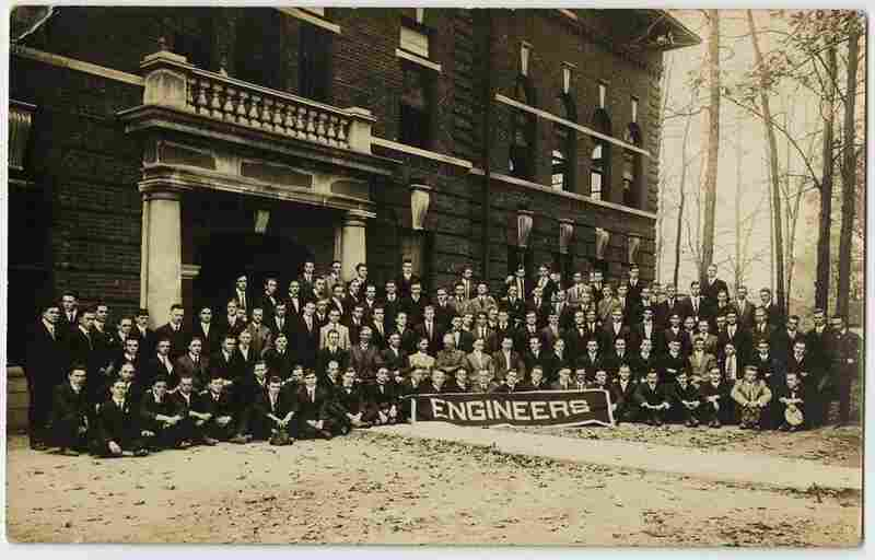 Engineering school portrait, early 20th century, unknown photographer