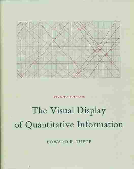 Known in design fields as the father of information design, Edward Tufte is the author of a renowned series of books on the topic. The cover of his first book, The Visual Display of Quantitative Information, features E.J. Marey's graphical train schedule, displaying travel times from Paris to Lyon in 1885.