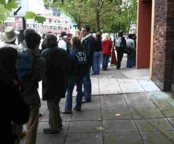The line outside Salumi.
