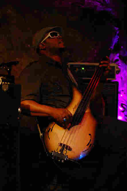 Bassist Tarus Mateen, who lives in the Washington, D.C. area, substituted for regular (acoustic) bassist David Ewell.