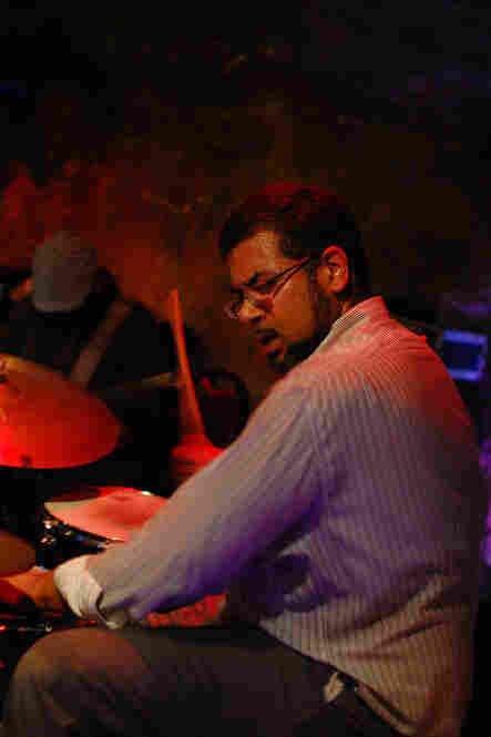 Sameer Gupta played the drum kit, and later moved to tabla drums.