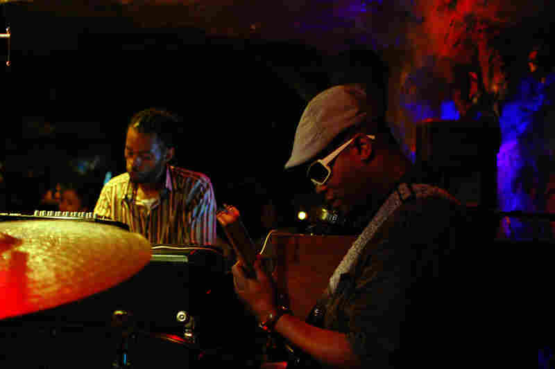 Tarus Mateen (electric bass) and Marc Cary.