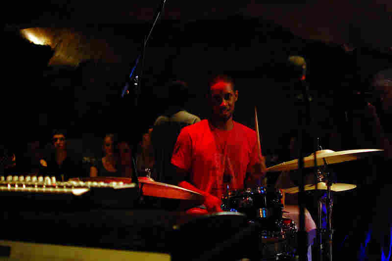 Washington D.C. area drummer Duane King, an old friend of Marc Cary, sat in for several tunes while Sameer Gupta played tabla.