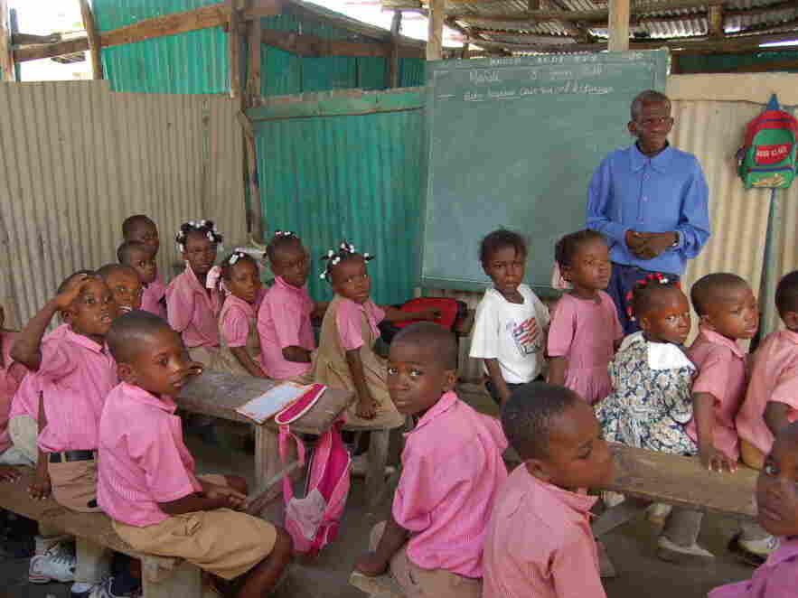 a classroom in rural Haiti