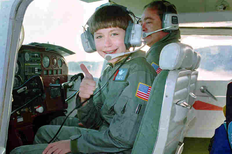 In 1993, 11-year-old Vicki Van Meter became the youngest pilot to fly cross-country.  At age 12, she flew across the Atlantic. In 2008, at age 26, Van Meter, who had been battling depression, died of a self-inflicted gunshot wound, an apparent suicide.