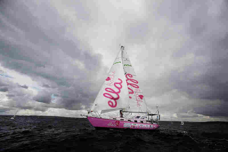 16-year-old Jessica Watson — the current record holder for youngest solo sail around the world — sets off on her yacht Ella's Pink Lady on Oct. 18, 2009, in Sydney, Australia.