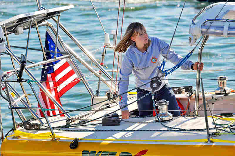 Abby Sunderland, 16, hoped to sail solo around the world but became stranded in the Indian Ocean last week because of severe weather.