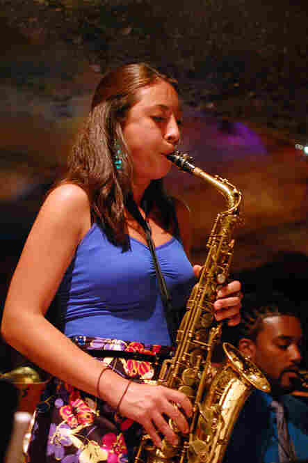 "Alto saxophonist Sarah Hughes played the Johnny Hodges role on ""The Star-Crossed Lovers,"" from Duke Ellington's Such Sweet Thunder."