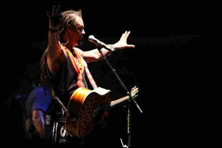 """Laura Fedele, Bonnaroo 2010: Michael Franti live from the """"Which"""" stage."""