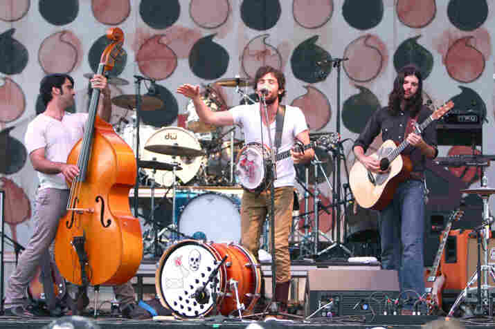 "The Avett Brothers performed on the ""Which"" stage on Saturday."
