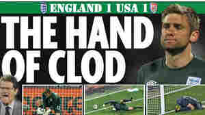 """The Sunday Mirror was among U.K. news outlets to use """"Hand of Clod"""""""