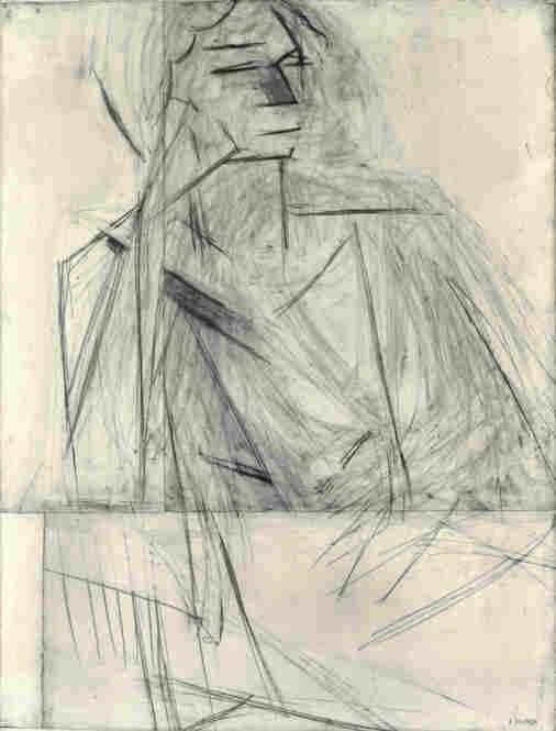 Eva Mudocci by Henri Matisse, 1916.