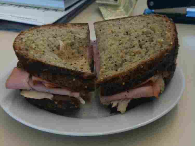 Peter Sagal's boring sandwich.