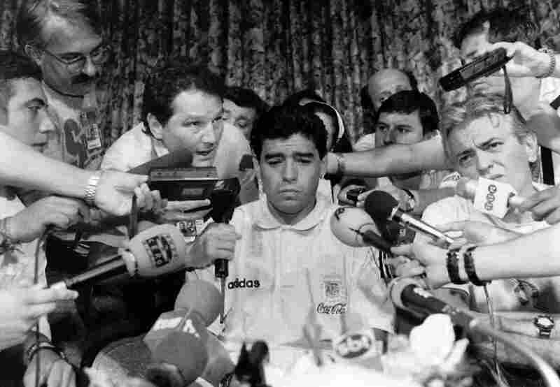 1994: Argentine forward Diego Maradona was thrust into the media spotlight when the Argentina Football Association dropped the 33-year-old from its World Cup squad on the eve of the final first-round game against Bulgaria for having tested positive for banned drugs.