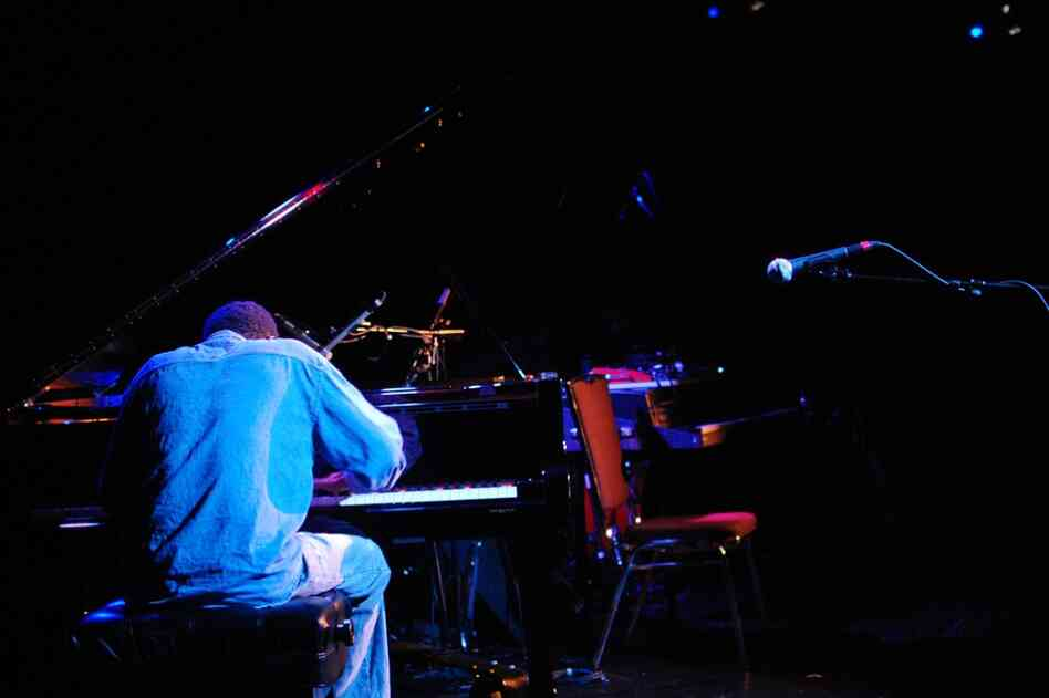 "Matthew Shipp played a solo piano set at Le Poisson Rouge — his wildly point-of-departure take on ""Fly Me To The Moon"" was a highlight."