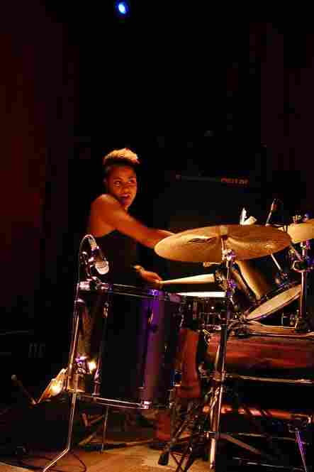 Kim Thompson, whose biggest gig is in Beyonce's touring band, got a chance to play with her jazz quartet at Sullivan Hall.