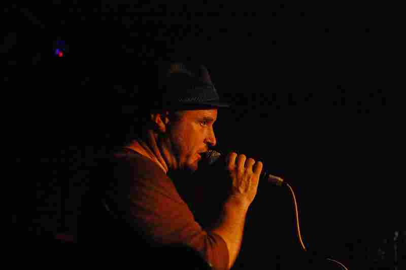Ben Perowsky addresses the crowd after a set with his Moodswing Orchestra. Rapper TK Wonder's vocal turn enthralled the crowd.