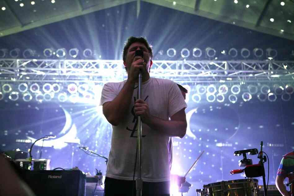 James Murphy of LCD Soundsystem performs at Bonnaroo 2010.