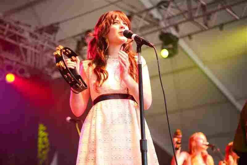 Zooey Deschanel of She & Him performs at Bonnaroo 2010.