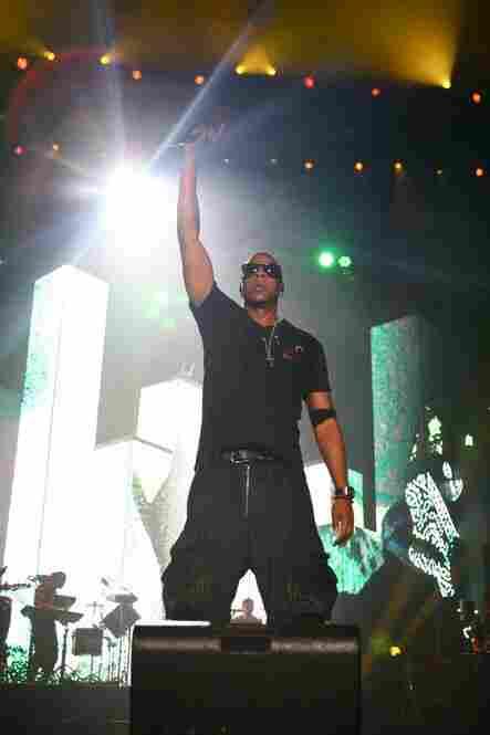 Jay-Z performs at Bonnaroo 2010.