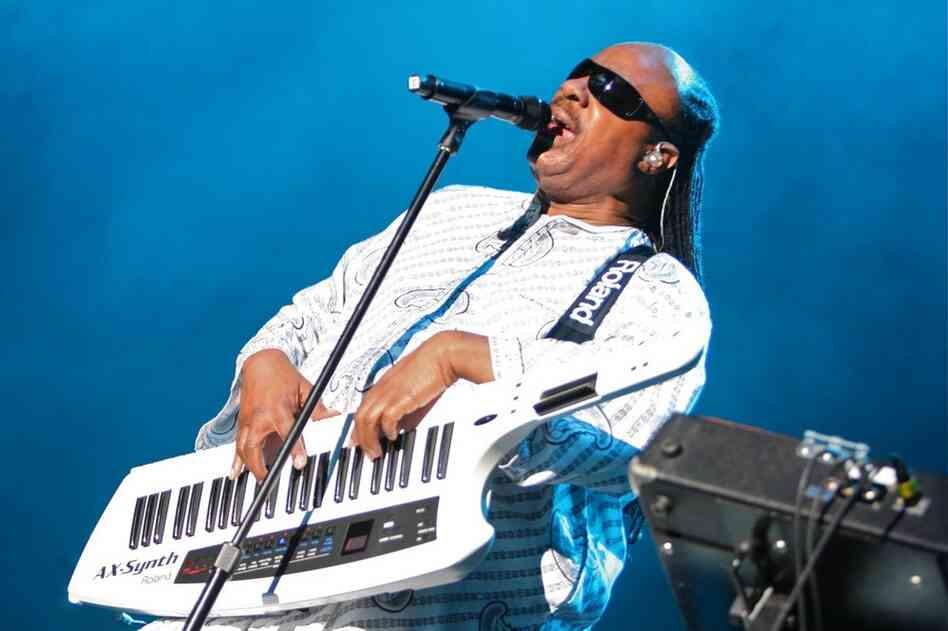 Stevie Wonder sings at Bonnaroo 2010.