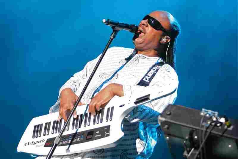 Stevie Wonder sings at Bonnaroo 2010.