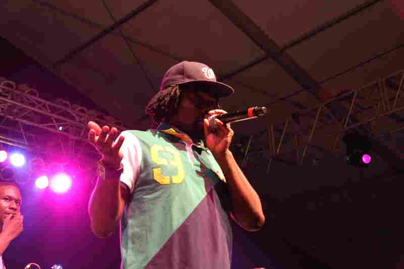Wale performs songs from his debut album at Bonnaroo 2010.