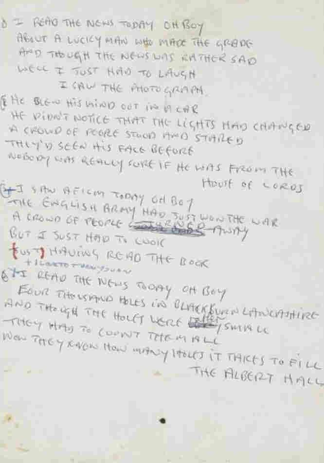 Lennon Day In Life Manuscript