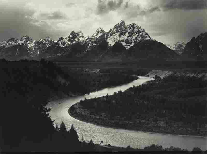 The Tetons and Snake River, Grand Teton National Park, Wyoming, mural-sized gelatin silver print, est. $250,000-$350,000. Another film print by Ansel Adams being auctioned with the Polaroid Collection at Sotheby's.