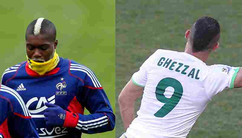 France vs. Algeria: FranceMohawk with bleach trumps bad shave job.
