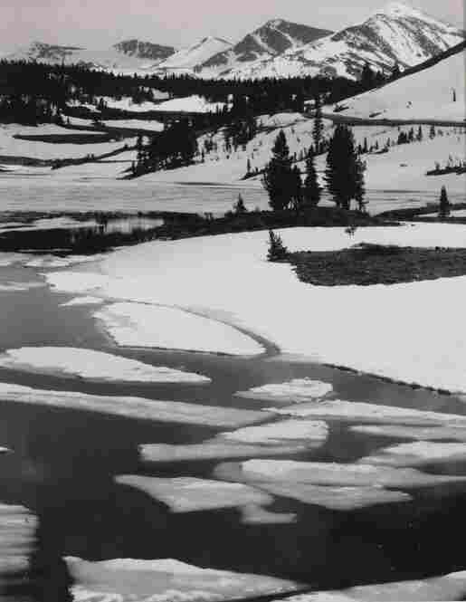 Ice Breaking on High Sierra Lake, unique Polaroid Type 52 print, est. $6,000-$9,000