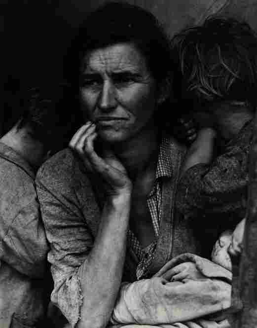 Migrant Mother, Nipomo, California, gelatin silver print, est. $60,000-$80,000. This photograph, taken by Dorothea Lange, was acquired by Ansel Adams for Polaroid's Library Collection.