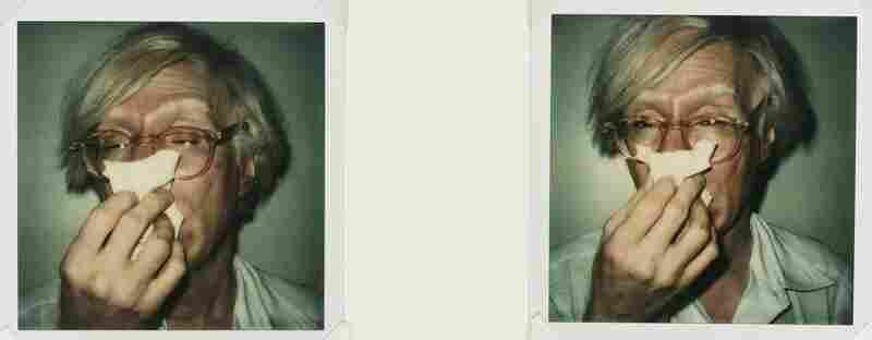 Andy Sneezing (Diptych), a diptych of unique Polaroid SX-70 prints, est. $6,000-$9,000