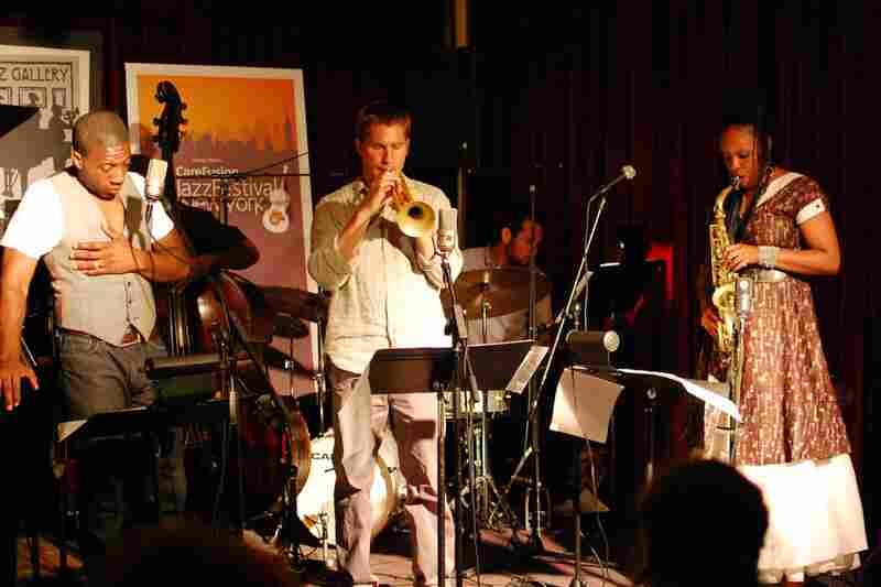 L-R: Jeremiah, Hill Greene (background), Shane Endsley, Tomas Fujiwara (background), Matana Roberts.