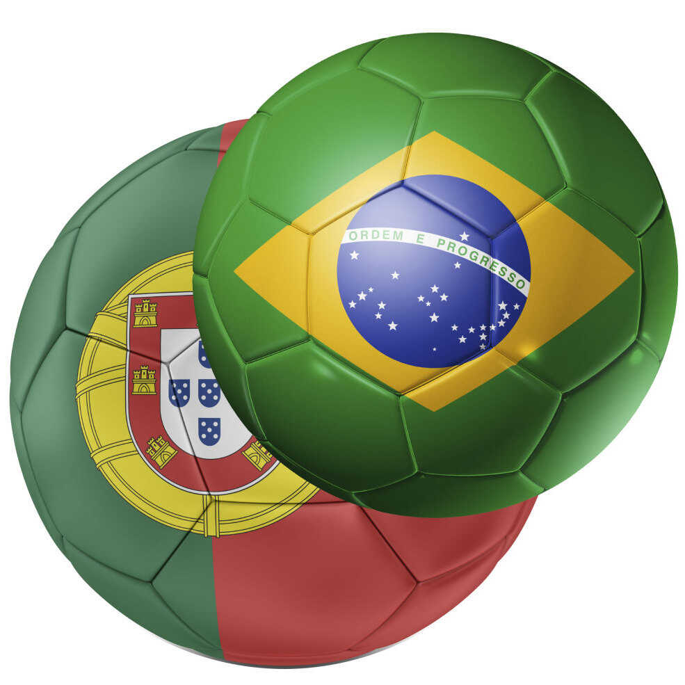 Brazil and Portugal